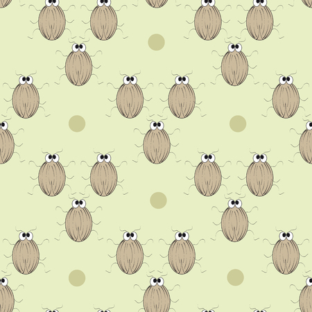 numerous: Seamless ornament composed of numerous beetles. Illustration