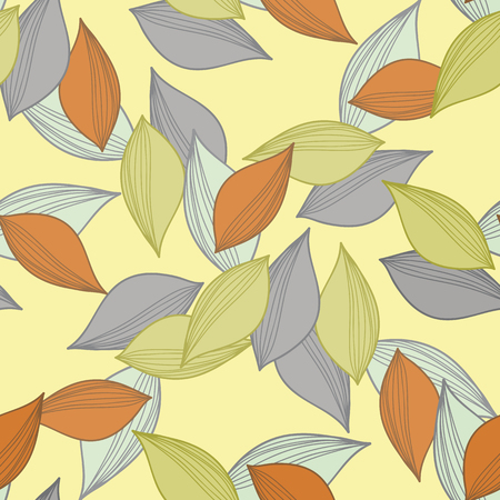 fallen: Seamless ornament. A pattern made of multi-colored fallen autumn leaves.Vector illustration.