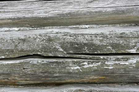 padding: Wooden background. Part of old wooden wall gray. Connect the boards put dirty old tow.