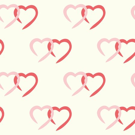 repeatability: Vector illustration. Seamless ornament consisting of many different hearts.