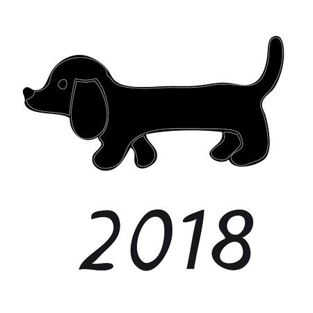 Ein Bild Von Einem Hund. Ein Schematisches Bild Eines Hundes Auf ...