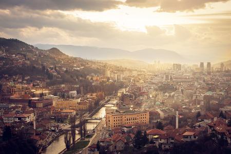 sarajevo: Scenery of Sarajevo city from above