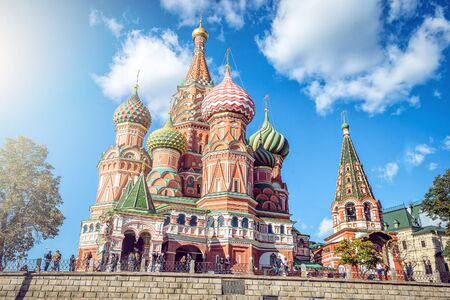 square: Moscow,Russia,Red square,view of St. Basils Cathedral