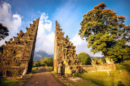 Gates to one of the Hindu temples in Bali in Indonesia Stock Photo