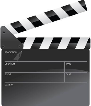 clapperboard: movie production clapperboard Illustration