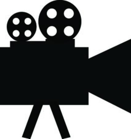 camara de cine: cámara de cine Vectores