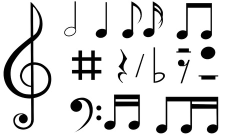 music notes Ilustracja