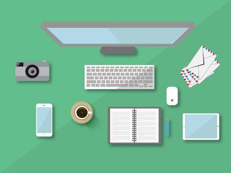 flat design desktop