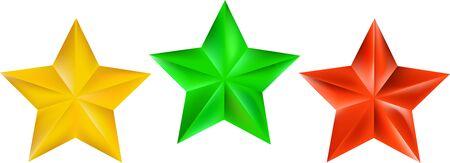 3 star color Ilustracja