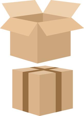 card box Ilustracja