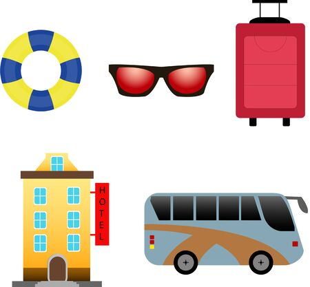 web: Travel web icon set Illustration