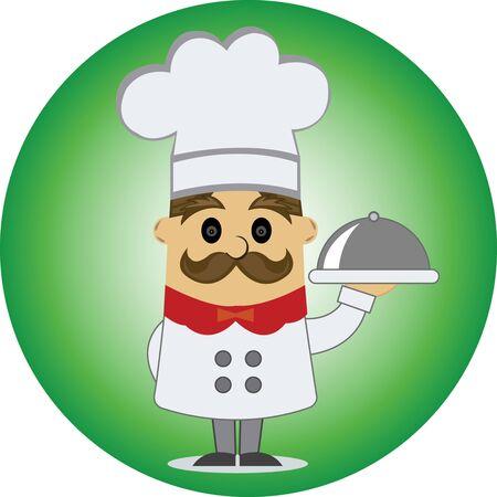 restaurant chef Ilustracja