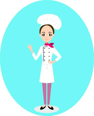 Restaurant chef Illustration