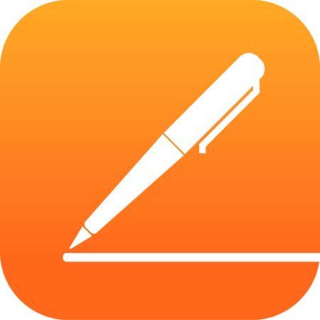 pencil button Ilustracja