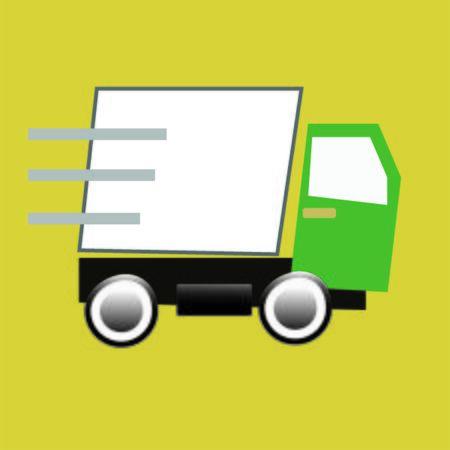 Cargo truck illustration.