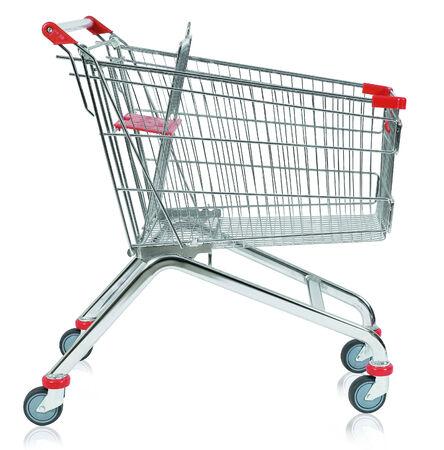 shopping buggy: Empty Shopping Cart Stock Photo
