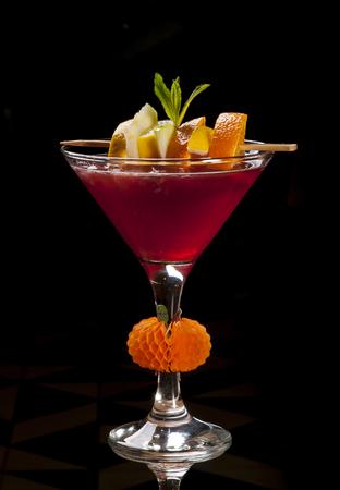 Fruit Juice Cocktail Red Orange Stock Photo