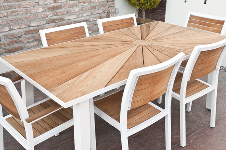 metal and wood outdoor furniture