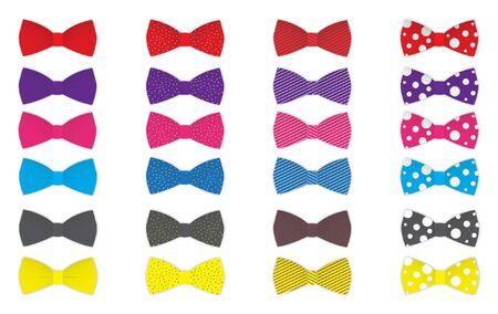 Colorful Bow tie vettore