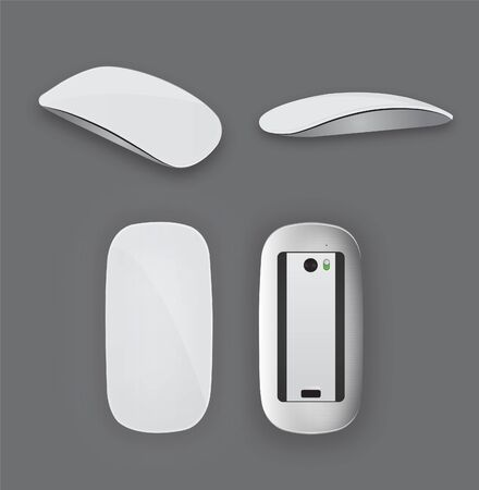 white mouse: Realistic Modern White Mouse Vector