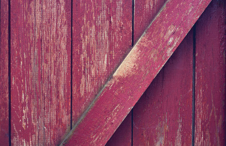 chipped: old red brick wall with shabby stucco beoy Stock Photo