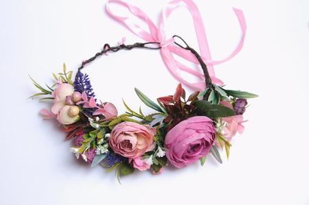 Wedding wreath from artificial flowers tender handmade