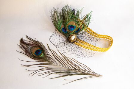 Fashion hair jewelry headpiece great gatsby for women - 1930s  and cigarette holder lady