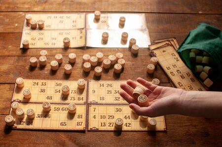 homemade family vintage interesting lotto bingo game