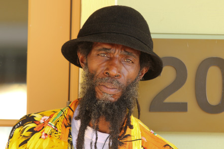 jamaican ethnicity: FALMOUTH, JAMAICA � MAY 11: An unidentified man outside the port of Falmouth on MAY 11, 2011 in Jamaica ahead of the national labour day celebrations.