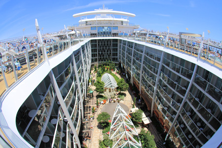 FORT LAUDERDALE, USA,� MAY 11: Royal Caribbean, Oasis of the Seas sailing from Fort Lauderdale, USA on May 11 2011. The second largest passenger ship constructed behind sister ship Allure of the Seas.