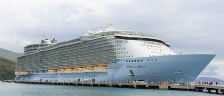 Labadee, Haiti,� May 4, 2011: Royal Caribbean, Oasis of the Seas docked in Labadee, Haiti on May 4 2011. The second largest passenger ship ever constructed behind sister ship Allure of the Seas.