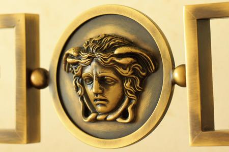 Gold Coast, Australia � December 2, 2012: Medusa decorative metal carving in a luxury hotel room at the Palazzo Versace Hotel located near Southport on Australia�s Sunshine Coast