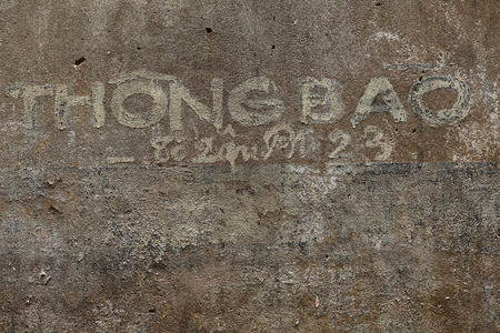 the ageing process: Weathered wall with texture and grunge feel with Graffiti Editorial