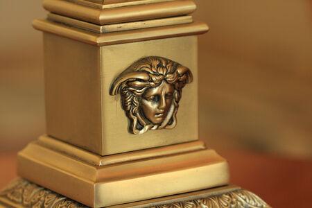 Gold Coast, Australia, December 2, 2012  Medusa decorative metal carving in a luxury hotel room at the Palazzo Versace Hotel located near Southport on Australia�s Sunshine Coast