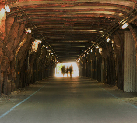 Tunnel with people photo
