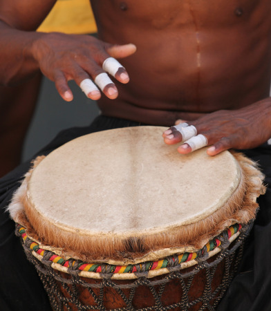 Playing Bongo Drums photo