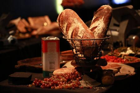 Sydney, Australia - June 14, 2013: Gourmet Rustic Bread Displayed at a night street market stall.