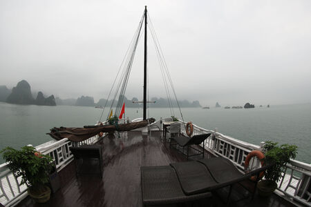 Junk boat in Halong Bay photo