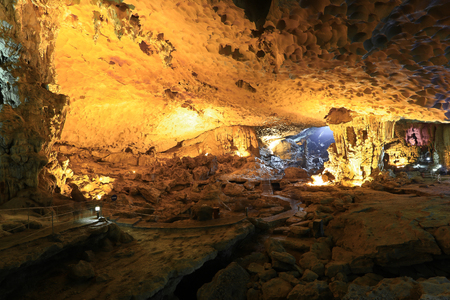 limestone caves: Limestone caves Halong Bay Editorial