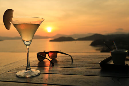 Cocktail at Sunset photo