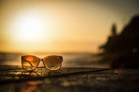 Sunglasses at Sunset - Vintage Filter Grainy