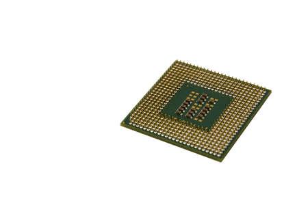 Closeup Processor (CPU) isolated on white photo