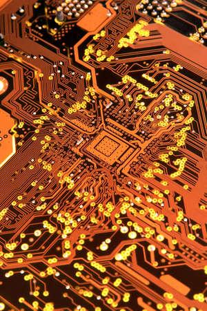 circuito electronico: Una placa de circuito electr�nico  Foto de archivo