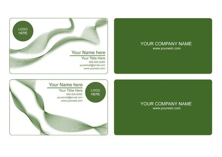 enviromental: green cards that can be used by personal or company Illustration