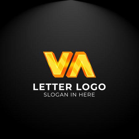 Luxury vector logotype. Double Letter v Logo. Logo for your Company, Business Card, Merchandise. Alphabet Logo, Symbol, Letter v Icon