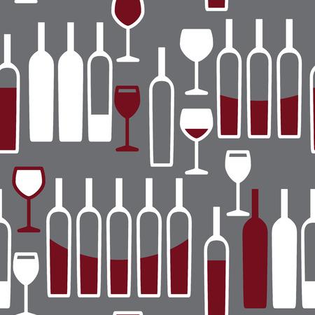 sommelier: Wine glasses seamless vector pattern