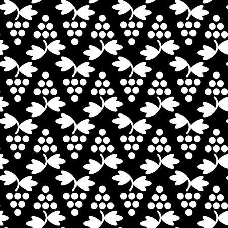 aperitif: geometric grapes simple vector seamless pattern Illustration