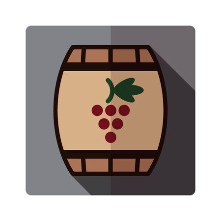 tun: vector flat icon of red wine barrel Illustration