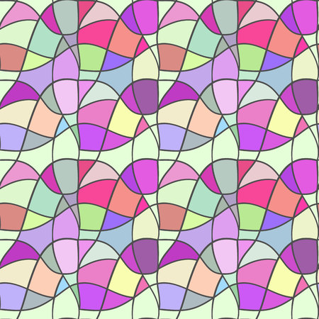 Seamless vector pattern. Mesh repeating texture, mosaic background