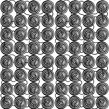 flower print: Seamless stylish hand drawn pattern. Vector illustration Illustration